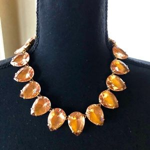 J.Crew Bold Faceted Crystal Necklace